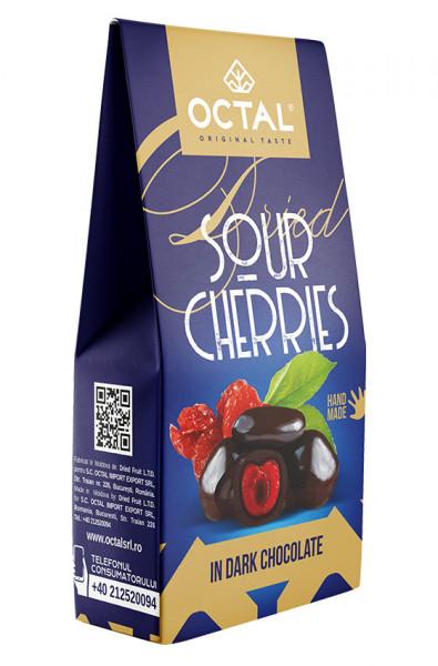Visine uscate in ciocolata neagra Octal Original Taste 100g