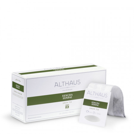Althaus Grand Pack Sencha Senpai: Ceai Verde, T-Bag, 20 plicuri in cutie, 4g in plic