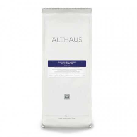 Althaus Loose Tea English Breakfast ST. Andrews: ceai negru din India si Ceylon, ceai vrac, punga 250g