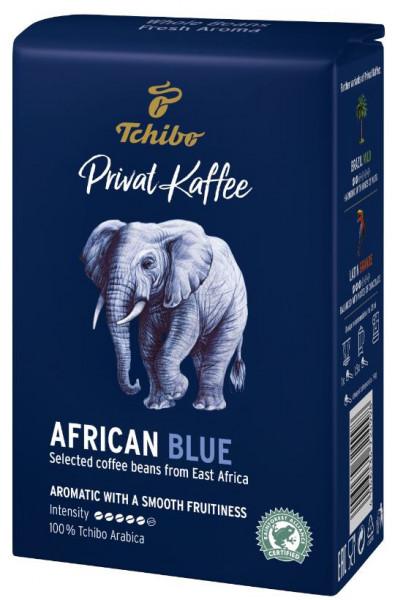 Cafea Boabe Tchibo Privat Kaffee AFRICAN BLUE, 500g, 100% Arabica, Gust Intens, Note de Coacaze si Fructe de Padure, AFRICA