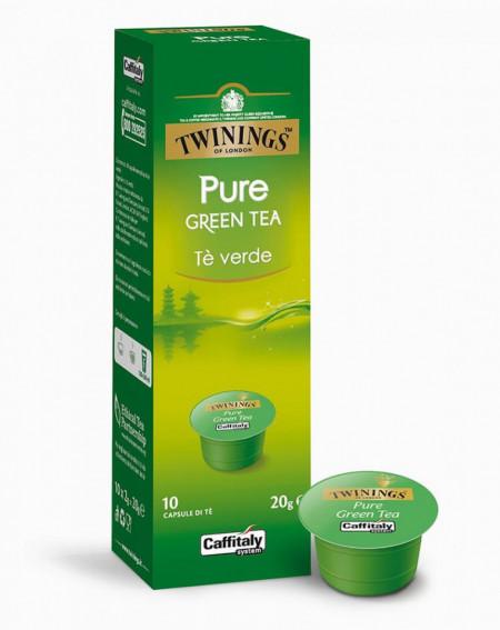 Caffitaly Capsule cu Ceai TWININGS PURE GREEN, potrivite pentru aparatele Cafissimo