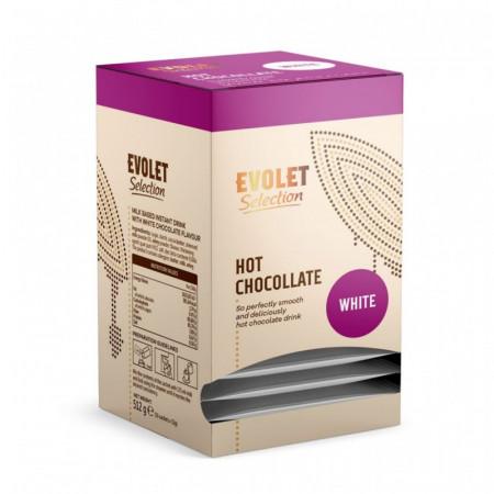 Ciocolata White Evolet Selection, alba, 16 plicuri x 32g fiecare plic