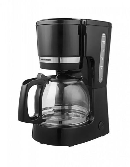 Cafetiera Heinner HCM-800BK, Negru, 1.5l în rezervor, 800W, negru