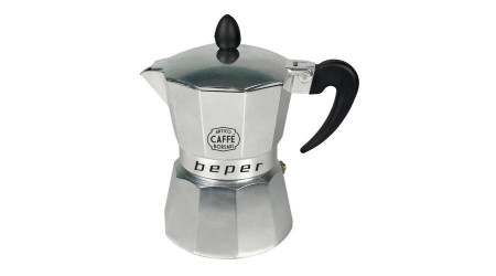 Cafetiera pentru Plita cu Inductie Beper, Design Clasic, Capacitate 3 Cesti