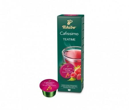 Capsule Ceai Tchibo Cafissimo Fruit Harmony, 10 capsule, 25g, Fructe, Capsune si Zmeura, espressor