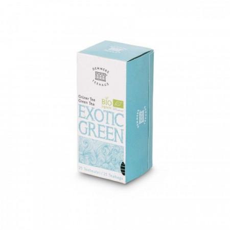 Ceai Demmers Quick-T Organic Exotic green, 25 plicuri, 1.75g/plic,43.75g/cutie