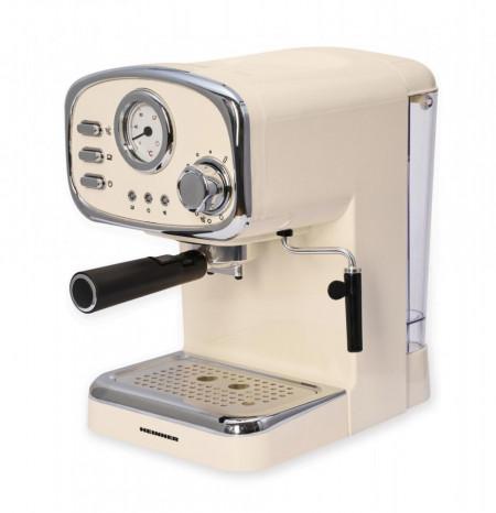 Espressor Heinner Retro Cream, Espresso si Capuccino, 15 bar, 1100W, duza de spumare detasabila