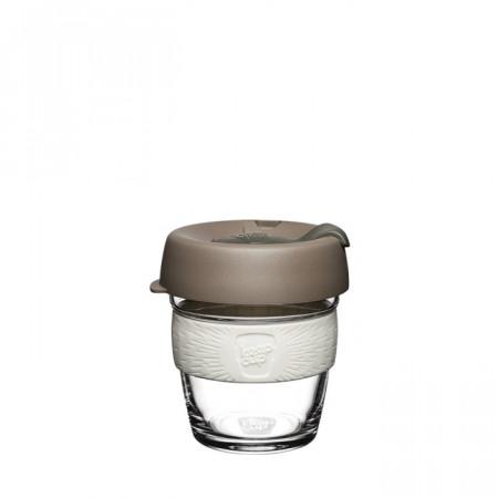 KeepCup Brew Glass - Cana Reutilizabila din Sticla cu Banda din Cauciuc