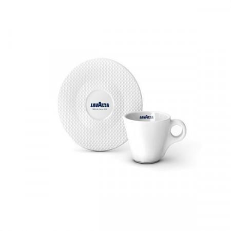 Lavazza Premium Collection set Cesti Espresso cu farfurii, 12 cesti de 60ml, 12 farfuri, Ideal pentru Espresso