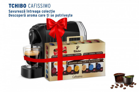 PROMOTIE! Tchibo Cafissimo Espressor easy Black+70 Capsule Cafissimo, putere 1250 W, 3 presiuni, Rezervor 650 ml, Negru