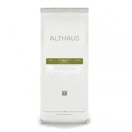 Althaus Loose Tea Casablanca Mint: ceai verde gunpowder, menta Nana, ceai vrac, punga 150 gr.