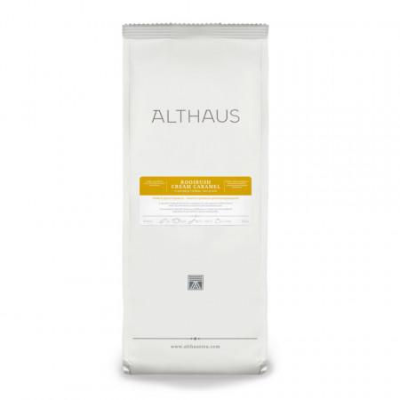 Althaus Loose Tea Rooibosh Cream Caramel: rooibosh aromat, ceai vrac, punga 250g