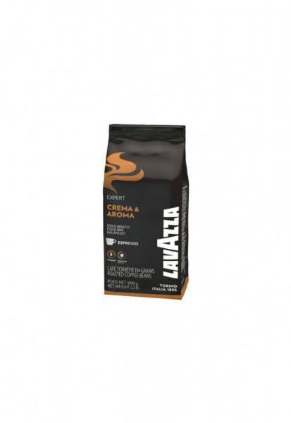 Cafea Boabe Lavazza Crema & Aroma, 1kg, pentru espresso,prajire medie, intensitate mare
