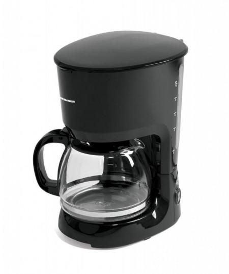 Cafetiera Heinner Coffee Art HCM-750BK, 1.25l în rezervor, filtru și portfiltru detașabile, 750W, Negru