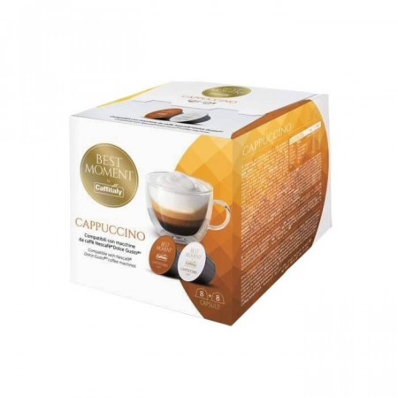 Caffitaly Capsule Cafea BEST MOMENT CAPUCCINO, tip Dolce Gusto, set – 16buc