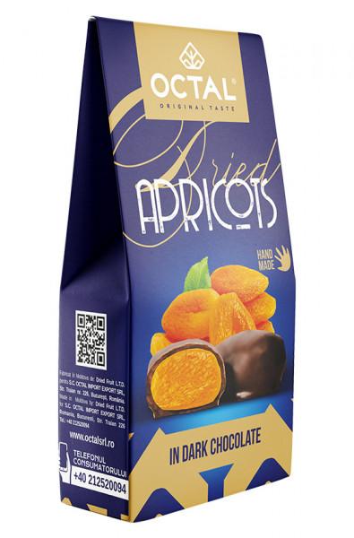 Caise uscate in ciocolata neagra Octal Original Taste 100g