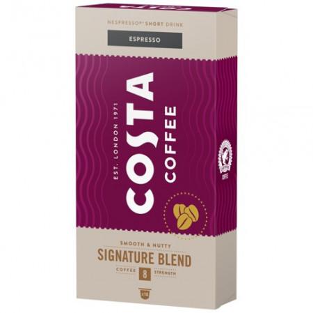Capsule COSTA COFFEE Espresso Signature Blend Medium, 5.7gr/capsula, 10 capsule in cutie, Gust Echillibrat, Note de Nuci, Compatibil cu aparatele Nespresso