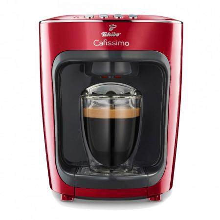 Espressor Tchibo Cafissimo mini Salsa Red, 4 bauturi, ceai, espresso, filtru, cafea crema,15 bar, 1500 W