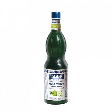 Fabbri MIXYBAR GREEN APPLE - Cocktailuri, Granite, Smoothie-uri, Milkshake, Sorbete, Sticla din plastic, 1 litru
