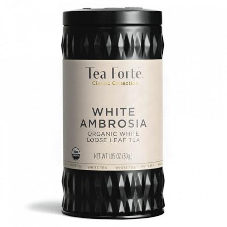 White Ambrosia - ceai alb cu bucati de cocos si sofranel