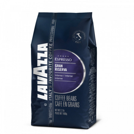 Cafea boabe Lavazza Gran Riserva, 1kg, 100% Arabica, Intensa, Bine Prajita, Note de Lichior, Pentru ibric, filtru, espressor