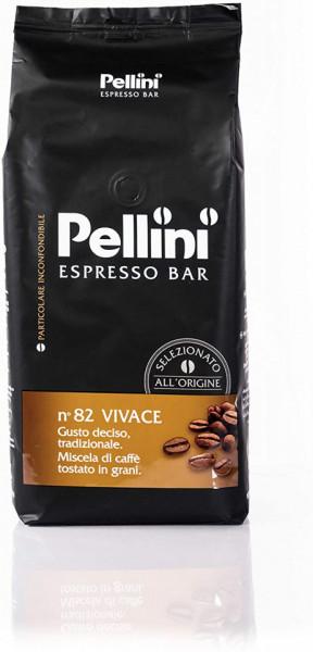 Cafea Boabe Pellini Espresso Bar Vivace, Punga 1kg, Cafea Amestec, Arabica 80%, Robusta 20%, corp plin, echilibrata
