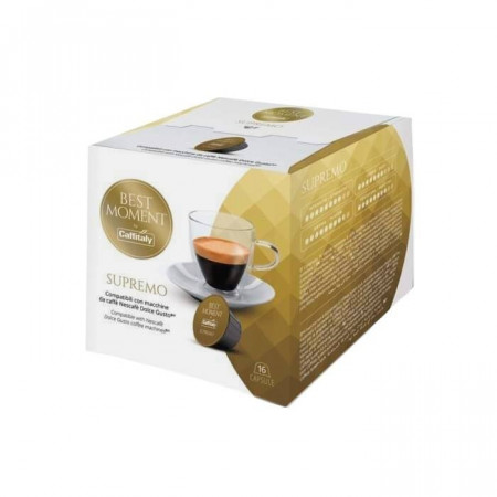Caffitaly Capsule Cafea BEST MOMENT SUPREMO, tip Dolce Gusto, set – 16buc