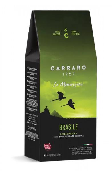 Carraro Cafea Macinata Origine Brasile, Pachet 250 gr