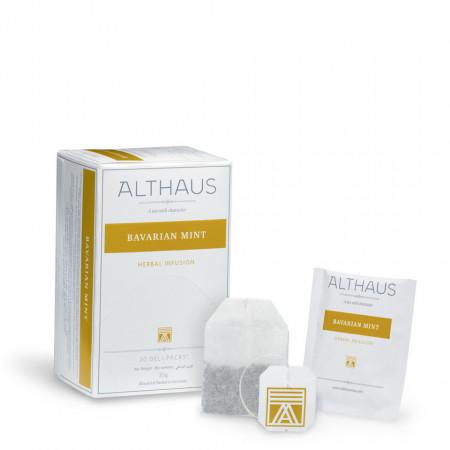 Althaus Deli Pack Bavarian Mint: Ceai de Menta, 20 plicuri în cutie, 1,75g ceai în plic din hartie