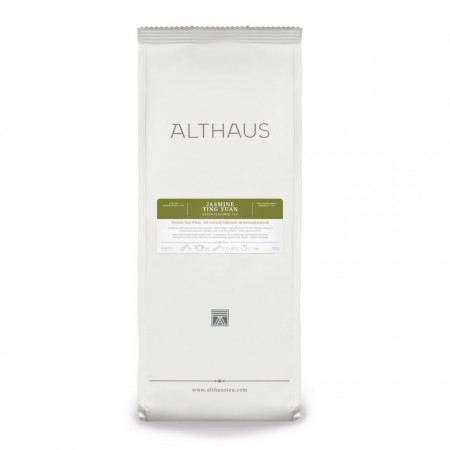Althaus Loose Tea Jasmine Ting Yuan: ceai verde cu iasomie, ceai vrac, punga 250g