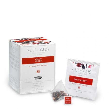 Althaus Pyra Pack Fruit Berries: Infuzie de Fructe de Padure, 15 plicuri in cutie,2,75g ceai in plic de matase