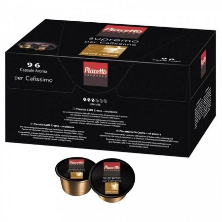Capsule cafea Piacetto Caffe Crema compatibil Caffisimo, 96 capsule, cafea arabica, America de sud, aciditate delicata, gust intens aromat
