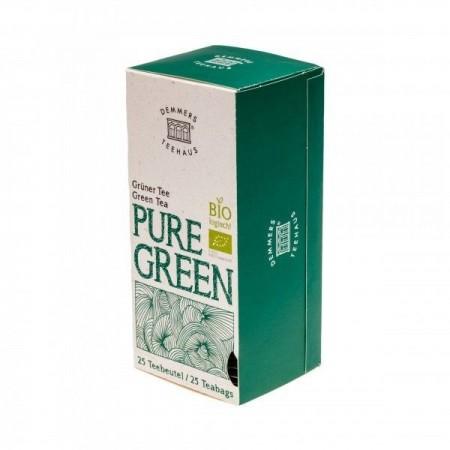 Ceai Demmers Quick-T Organic Pure Green, 25 plicuri, 43 grame