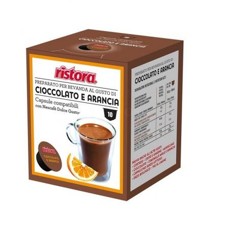 Ristora Capsule Cafea Ciocolata cu Portocale, tip Dolce Gusto, set- 10 buc