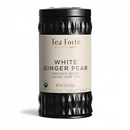 White Ginger Pear - ceai alb organic cu ghimbir, vanilie si pere
