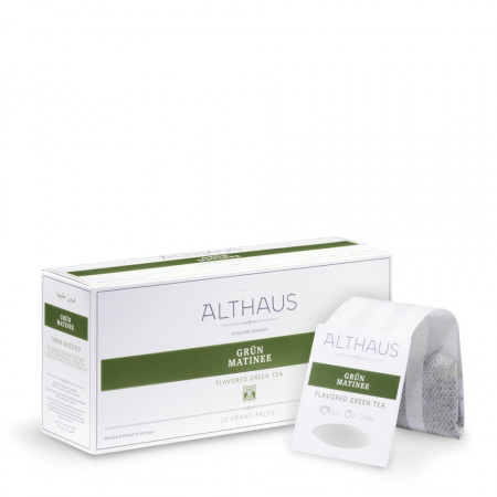 Althaus Grand Pack Green Matinee: Ceai Verde Aromat, T-Bag, 20 plicuri in cutie, 4g in plic