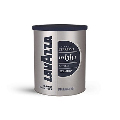 Cafea Macinata Lavazza InBlu, Cutie Metalica, 250g, 100% Arabica, Pentru Espressor