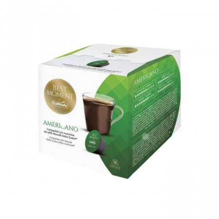 Caffitaly Capsule Cafea BEST MOMENT AMERICANO, tip Dolce Gusto, set – 16buC