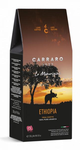 Carraro Cafea Macinata Origine Etiopia, Pachet 250 gr