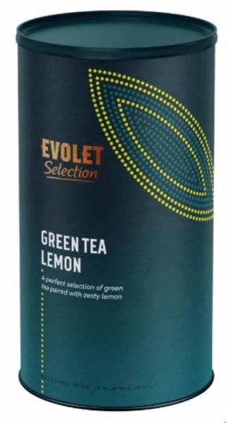 Ceai EVOLET Selection infuzie TUB - Green Tea Lemon, 250g Ceai In Tub De Carton, Selectie de Plante