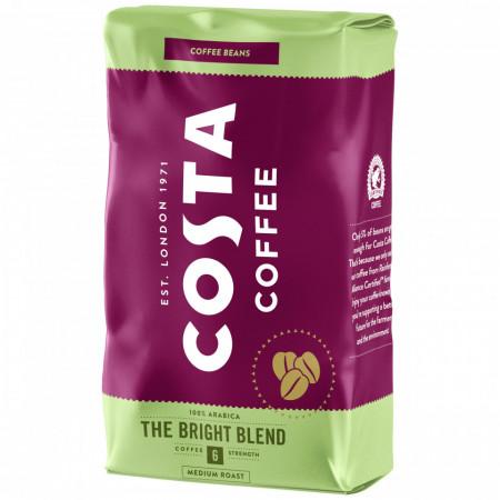 Costa Bright Blend, Cafea Boabe, 1kg, Gust Plin cu Note de Miere, 100% Arabica