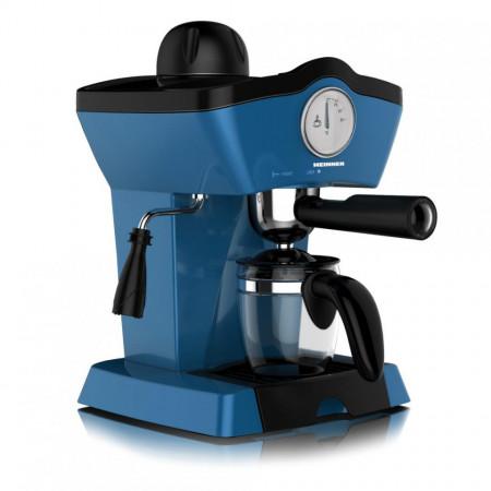 Espressor Heinner CHARM, espresso si capuccino, 3.5 bar, 4 cesti, Albastru