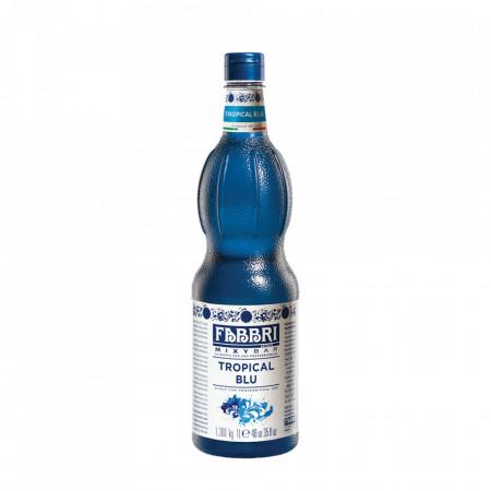 Fabbri MIXYBAR TROPICAL BLUE - Cocktailuri, Granite, Smoothie-uri, Milkshake, Sorbete, Sticla din plastic, 1 litru