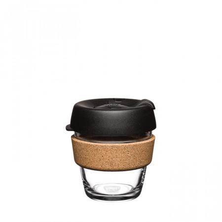 KeepCup Brew Cork Cana Reutilizabila din Sticla Securizata cu Banda din Pluta