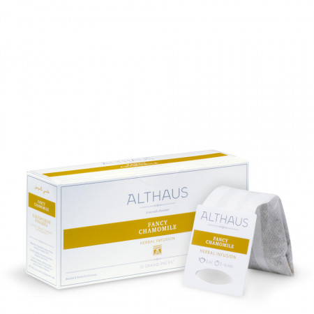Althaus Grand Pack Fancy Chamomile: Ceai de Musetel, T-Bag, 15 plicuri in cutie, 4g in plic