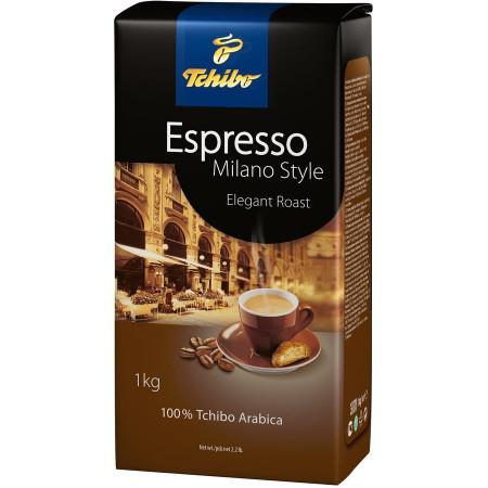Cafea Boabe Tchibo Espresso Milano Style, punga 250g, 500g, 1 kg, note de ciocolata neagra