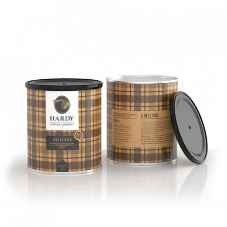 Cafea Hardy Universo cafea amestec, macinata, 250gr, nuci proaspete si ierburi balsamice
