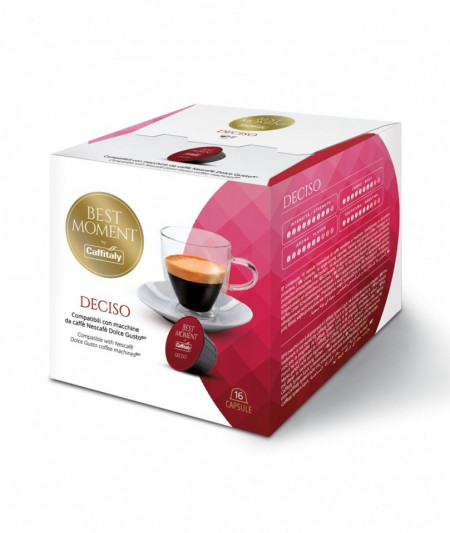 Caffitaly Capsule Cafea BEST MOMENT DECISO, tip Dolce Gusto, set – 16buc