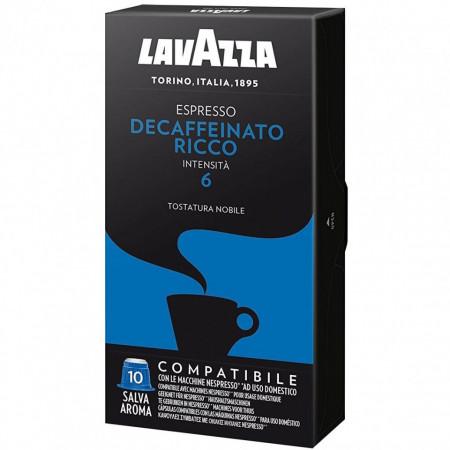 Capsule cafea Lavazza TIP Nespresso Decaffeinato Ricco, 10 capsule, 55 grame