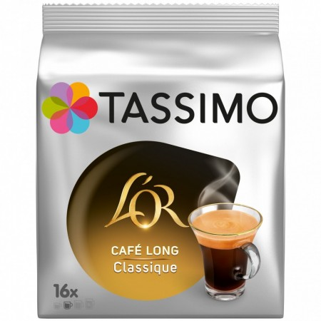 Capsule cafea Tassimo L`OR Long Classique, 16 capsule, 104 grame